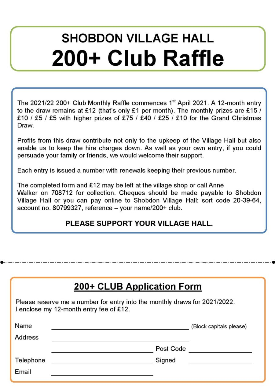 200 Club 2021 22 Entry Form Kma Page 001