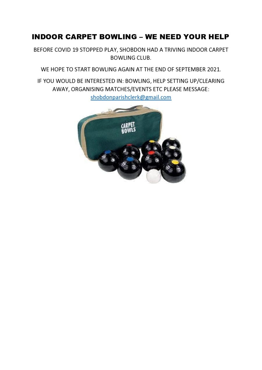 Indoor Carpet Bowling Advert Page0001